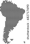 map of south america | Shutterstock .eps vector #682717690