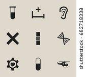 set of 9 editable health icons. ...