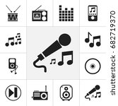 set of 12 editable sound icons. ...