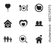set of 9 editable amour icons....