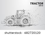 tractor of the particles. the... | Shutterstock .eps vector #682720120