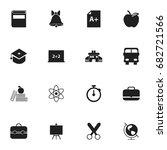 set of 16 editable education... | Shutterstock .eps vector #682721566