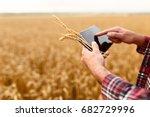 smart farming using modern...   Shutterstock . vector #682729996