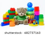 colorful educational toys for... | Shutterstock . vector #682737163