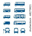 set of different bus | Shutterstock .eps vector #68273821