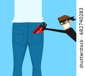 thief pickpocket stealing a... | Shutterstock .eps vector #682740283