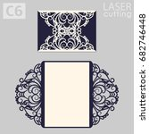 laser cut wedding invitation... | Shutterstock .eps vector #682746448