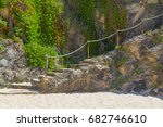 stairs in the cliffs in porto... | Shutterstock . vector #682746610