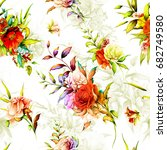 seamless background floral... | Shutterstock .eps vector #682749580