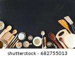 preparation cooking accessories ...   Shutterstock . vector #682755013