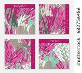 hand drawn creative invitation...   Shutterstock .eps vector #682756486