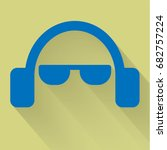 headphone and glasses flat icon | Shutterstock .eps vector #682757224