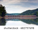 dam of the hydroelectric power... | Shutterstock . vector #682757698