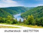 bystrzyckie lake in zagorze... | Shutterstock . vector #682757704