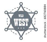 wild west logo. simple... | Shutterstock .eps vector #682760884