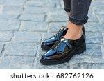 close up of stylish glamorous... | Shutterstock . vector #682762126