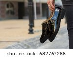 close up of stylish glamorous... | Shutterstock . vector #682762288