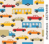 seamless pattern with urban... | Shutterstock .eps vector #682764448