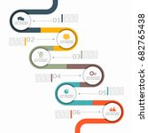 infographic design template... | Shutterstock .eps vector #682765438
