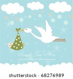 baby arrival card | Shutterstock .eps vector #68276989
