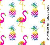 vivid exotic seamless pattern... | Shutterstock .eps vector #682784293