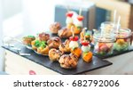 beautifully decorated catering... | Shutterstock . vector #682792006