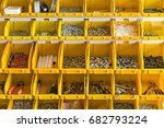 Lot Of Plastic Yellow Boxes Ar...