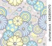 beautiful floral pattern.... | Shutterstock .eps vector #682805470