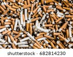 A Lot Of Burnt Cigarette Butts...