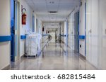 a clean and empty hospital... | Shutterstock . vector #682815484