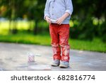 close up photo of little kid... | Shutterstock . vector #682816774