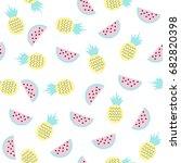 sweet fruits seamless pattern.... | Shutterstock .eps vector #682820398