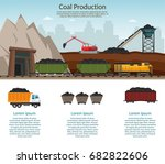 coal mining industry and... | Shutterstock .eps vector #682822606