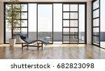 modern living room. 3d rendering | Shutterstock . vector #682823098
