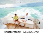 friendship and vacation. two... | Shutterstock . vector #682823290