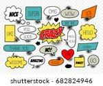 a set of comic speech bubbles... | Shutterstock .eps vector #682824946