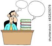 banker speech bubble   files... | Shutterstock . vector #682825078