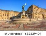majestic view of frankonia... | Shutterstock . vector #682829404