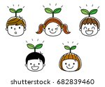 children's growth  | Shutterstock .eps vector #682839460