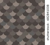 seamless pattern with brown...   Shutterstock .eps vector #682841038