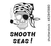 vector image of skull captain...   Shutterstock .eps vector #682845880