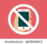 no cell phone  mobile phone... | Shutterstock .eps vector #682846843
