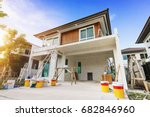 exterior view of new house... | Shutterstock . vector #682846960