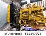 diesel generator for backup... | Shutterstock . vector #682847026