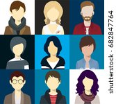 person avatars people heads... | Shutterstock .eps vector #682847764