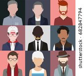illustration man avatar... | Shutterstock .eps vector #682847794