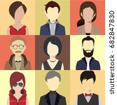 person avatars people heads... | Shutterstock .eps vector #682847830
