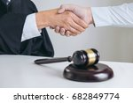 image of hands  male lawyer or... | Shutterstock . vector #682849774