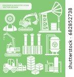industry icon set vector   Shutterstock .eps vector #682852738