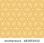 modern decorative ornament with ... | Shutterstock .eps vector #682853410